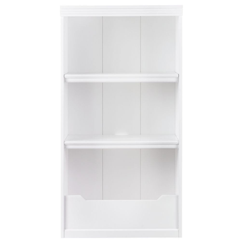 "48"" Flat Top Bookcase (White)"
