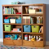 "Flat Top Bookcase, 60"" (Light Honey)"