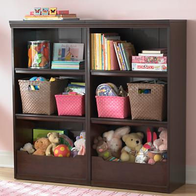 "Flat Top Bookcase, 48"" (Espresso)"