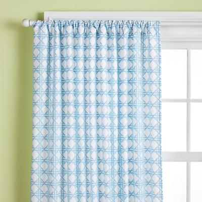 "84"" Lattice Curtain Panel (Blue)"