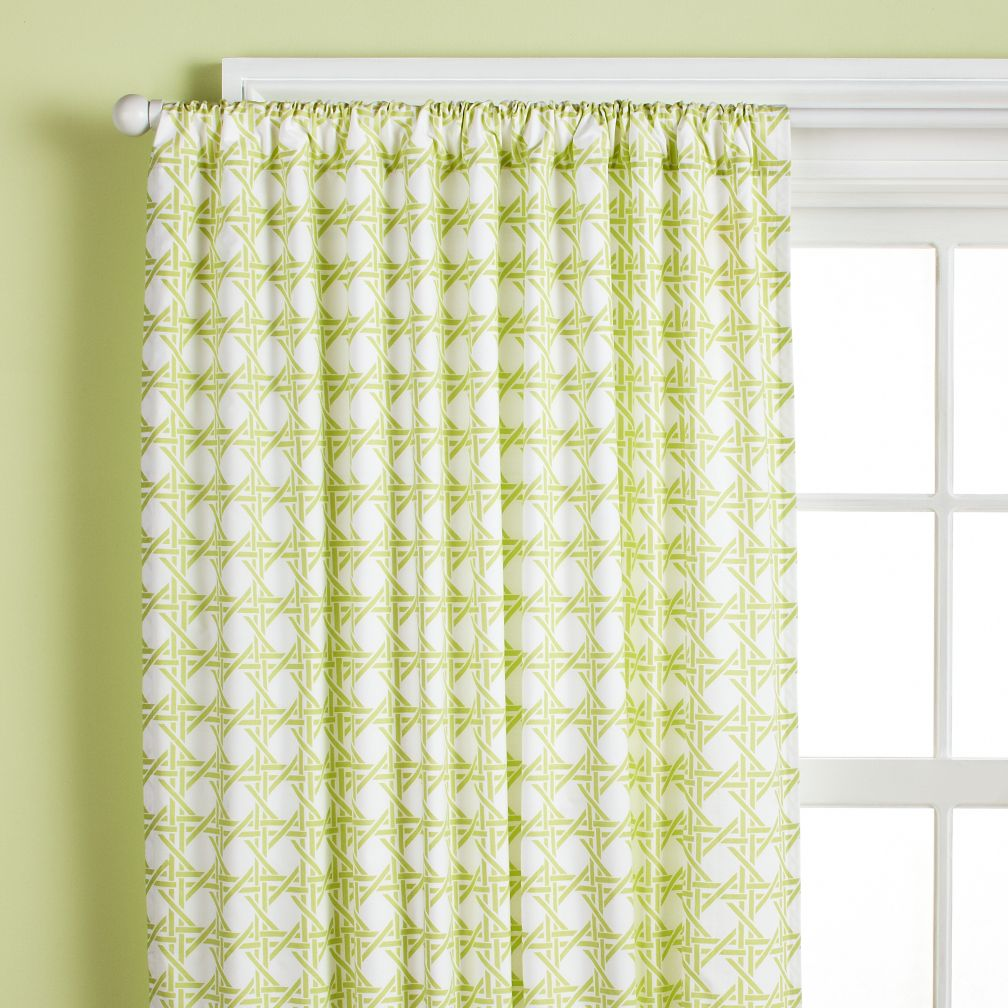 84&quot; Lattice Curtain Panel (Green)