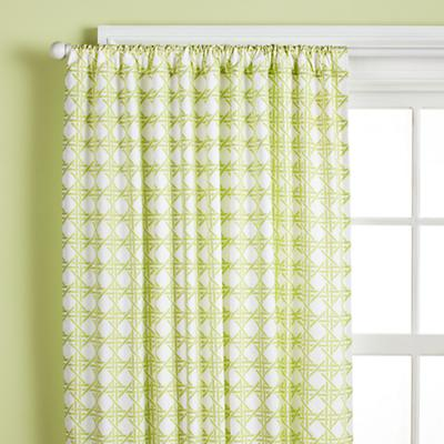 "63"" Lattice Curtain Panel (Green)"