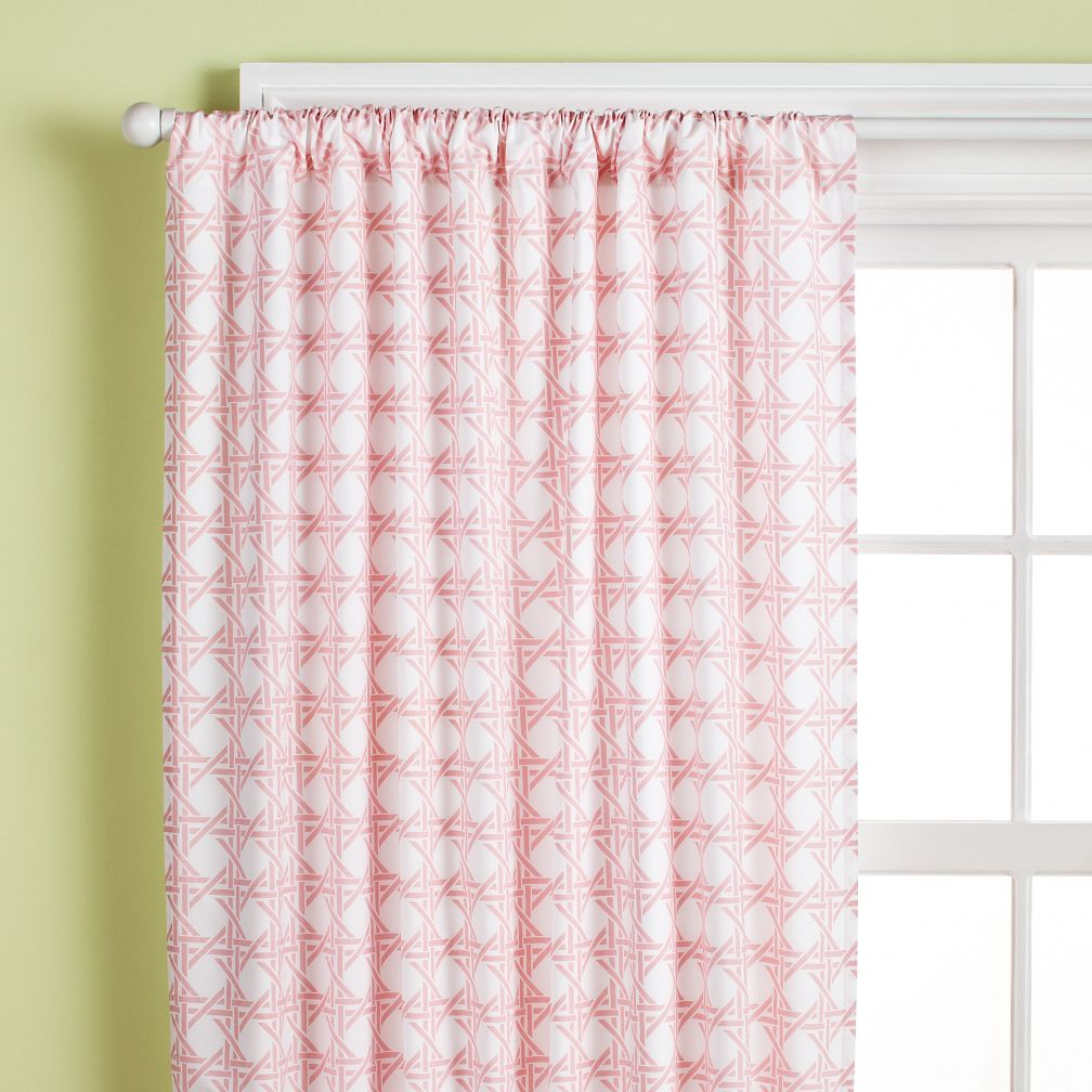 "84"" Lattice Curtain Panel (Dk. Pink)"