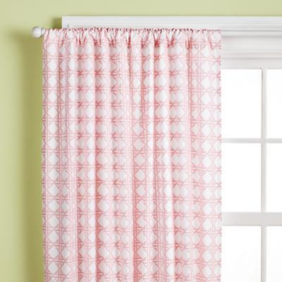 "84"" Lattice Curtain Panel (Dk. Pink)"
