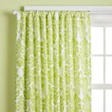 Wallpaper Floral Curtain Panels (Green)