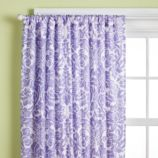 Wallpaper Floral Curtain Panel (Lavender)