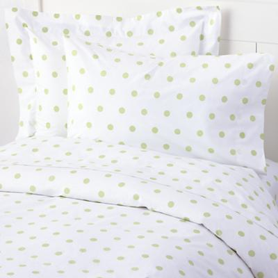 Dots Bedding Duvet Cover (Green Pastel)