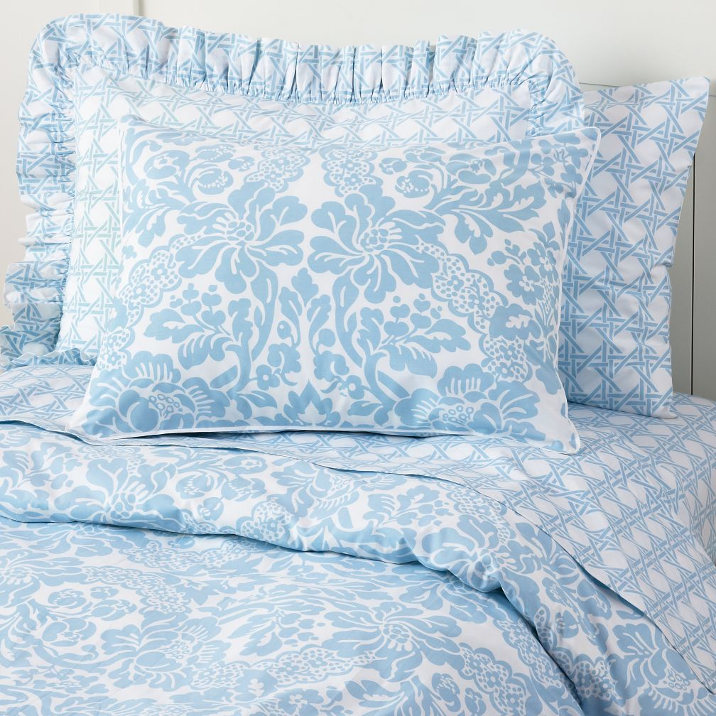 Wallpaper Floral Duvet Cover (Blue)