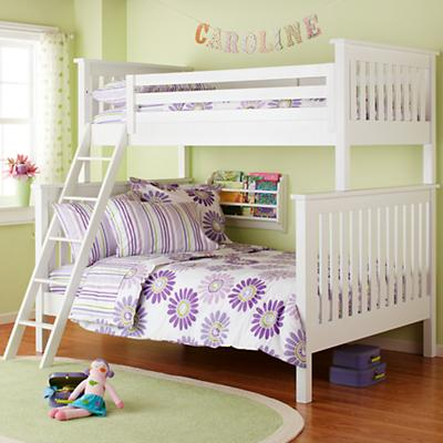 Simple Twin-Over-Full Bunk Bed (White)