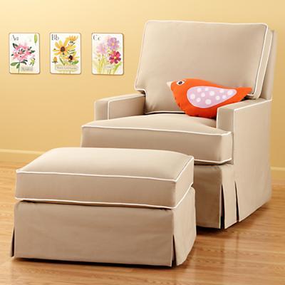 Nursery gliders khaki sand mod nod swivel glider chair and ottoman