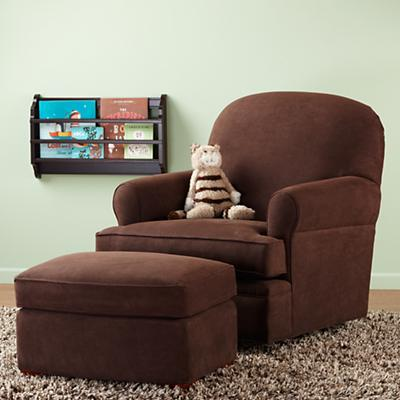 Dylan Swivel Glider & Ottoman (Chocolate)