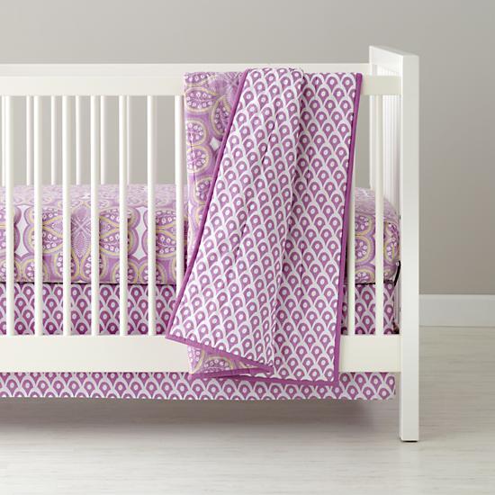 Baby Bedding: Purple Mosaic Paisley Crib Bedding in Crib Bedding ...