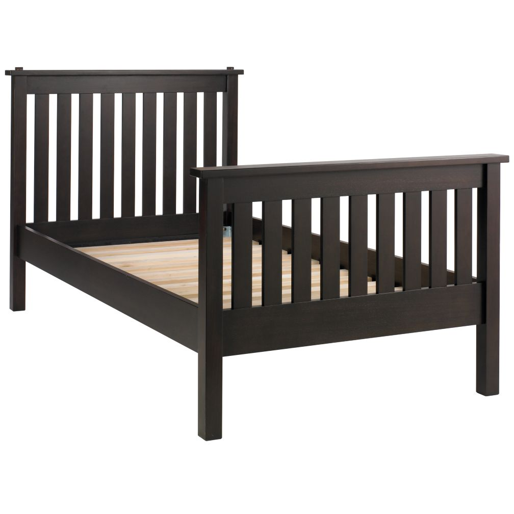 Simple Twin Bed (Espresso)