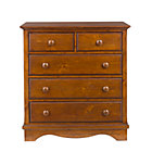 Chocolate 2-Over-3 Dresser