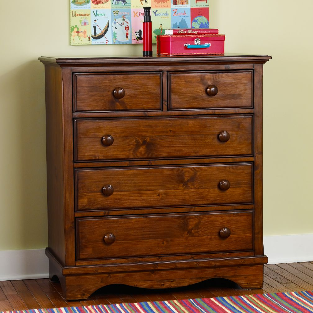 Walden 2-Over-3 Dresser (Chocolate)