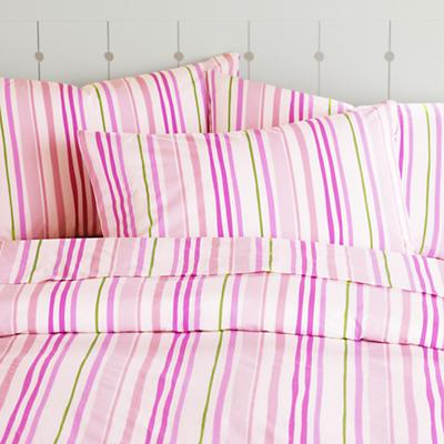 Citrus Stripe Duvet Cover (Pink)
