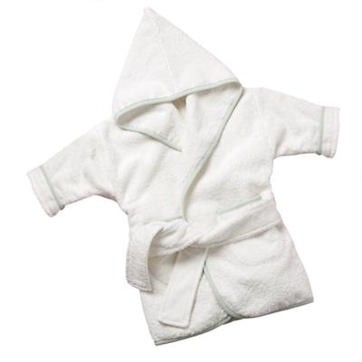 Small Organic White Bath Robe