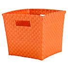 Orange Cube Bin