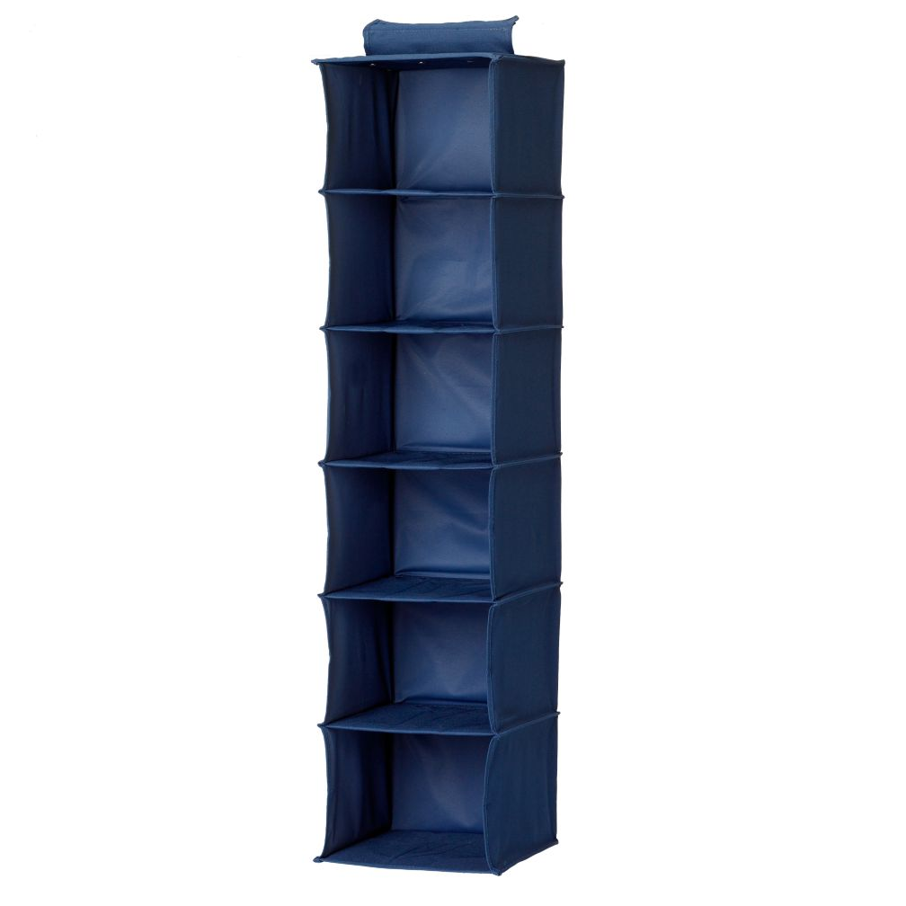 I Think I Canvas Wide Hanging Organizer (Blue)