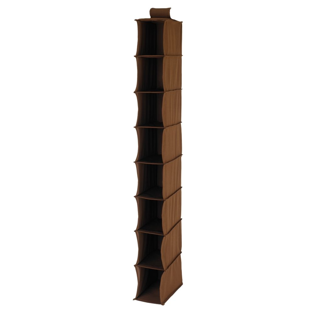 I Think I Canvas Narrow Hanging Organizer (Brown)