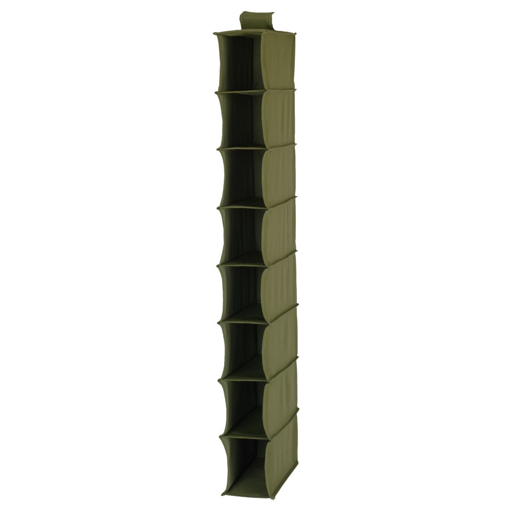 I Think I Canvas Narrow Hanging Organizer (Green)