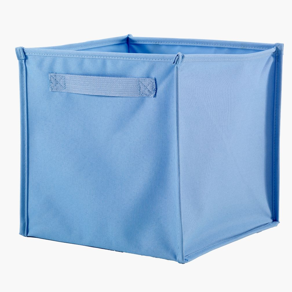 I Think I Canvas Cube Bin (Lt. Blue)