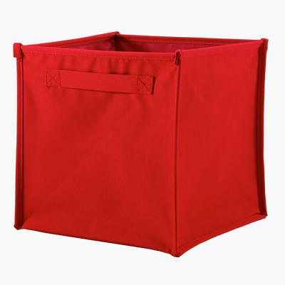 I Think I Canvas Cube Bin (Red)