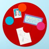 Perfect Circle Magnet Board (Red)