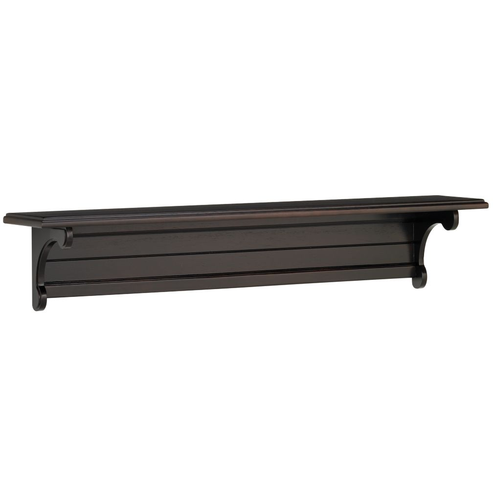 36&quot; Scroll witt the Changes Wall Shelf (Espresso)