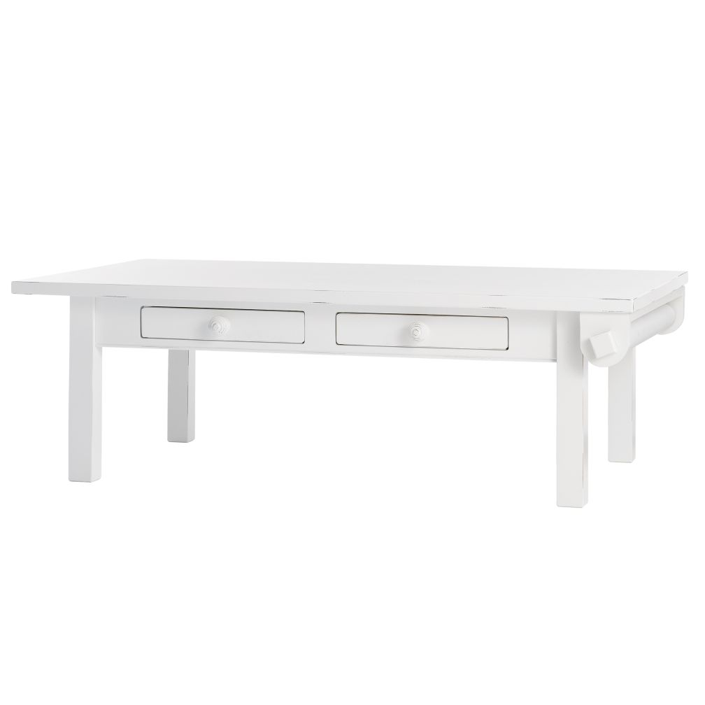 Low Activity Table w/ Paper Roller (White)