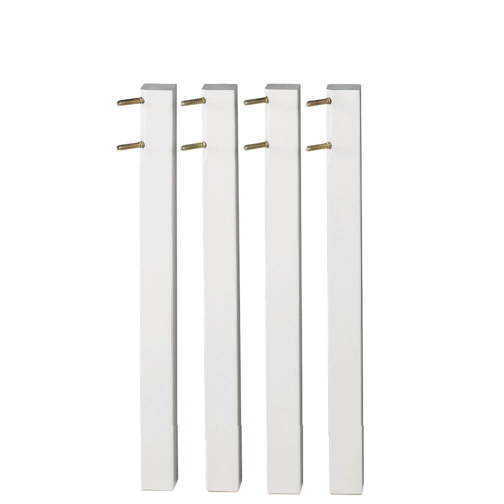 Medium White Activity Table Legs (Set of 4)