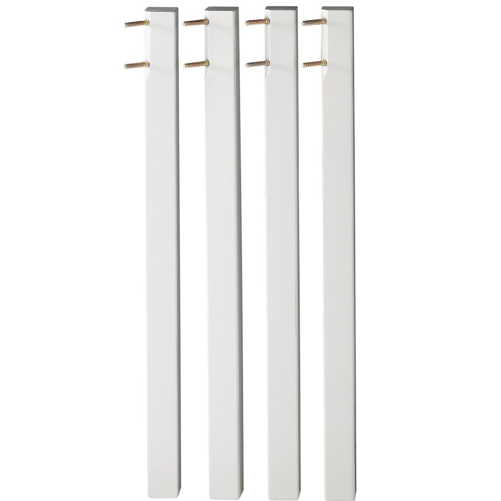 Tall White Activity Table Legs (Set of 4)