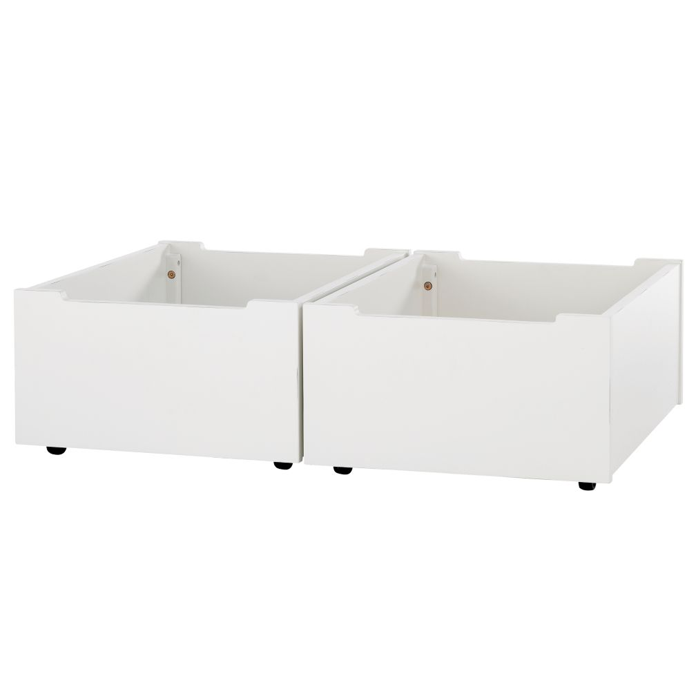 Activity Table White Storage Bins (Set of 2)