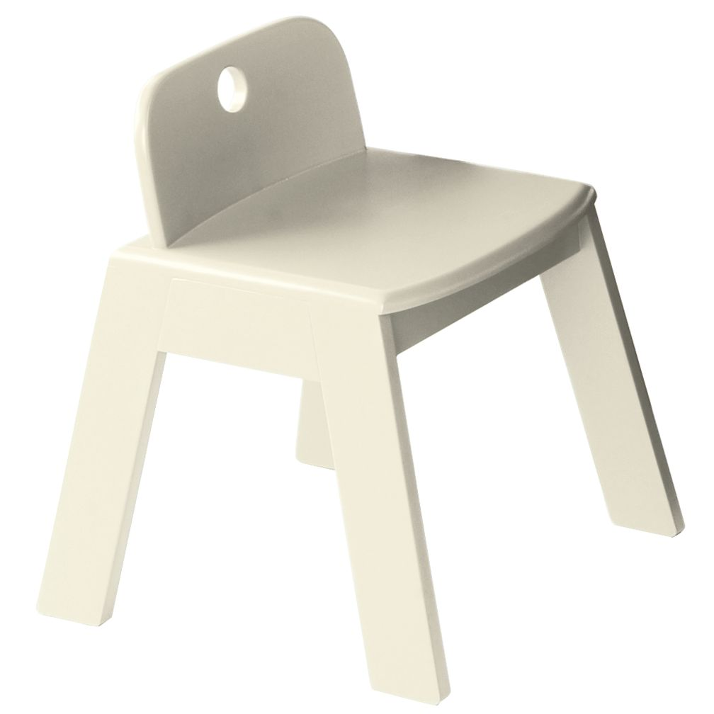 "White Mojo Chair<br />Floor to Seat: 14"" H"