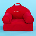 Red Personalized Nod Chair includes Cover and InsertFree embroidered personalization!