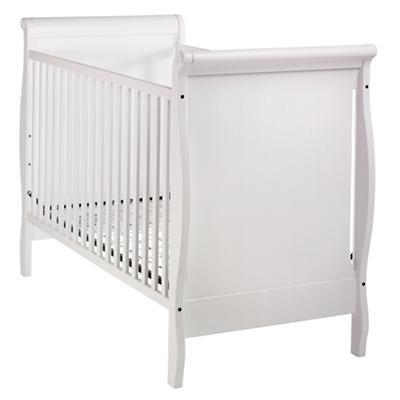Sleigh Crib (White)