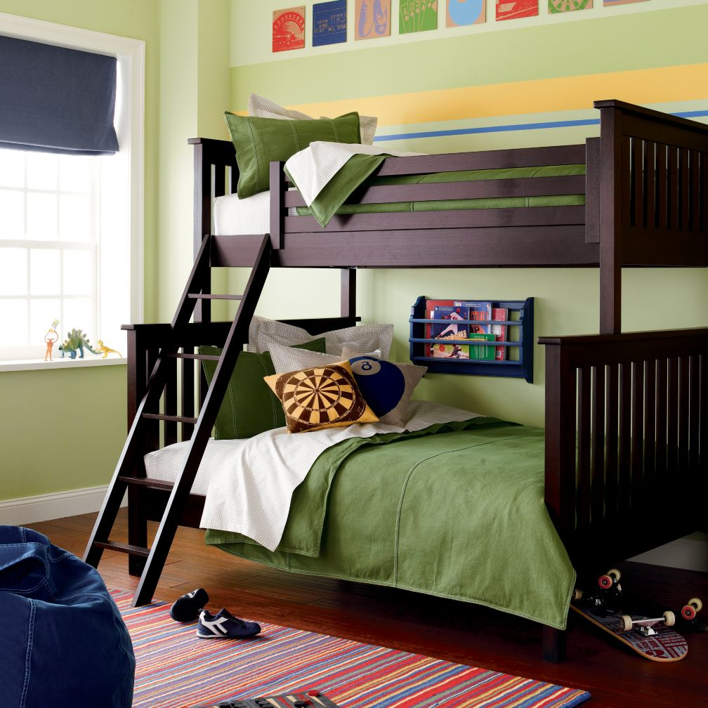 Simple Twin-Over-Full Bunk Bed (Espresso)