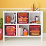 6-Cube Bookcase (White)