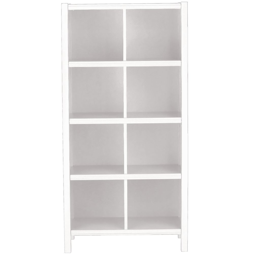 8-Cube Bookcase (White)