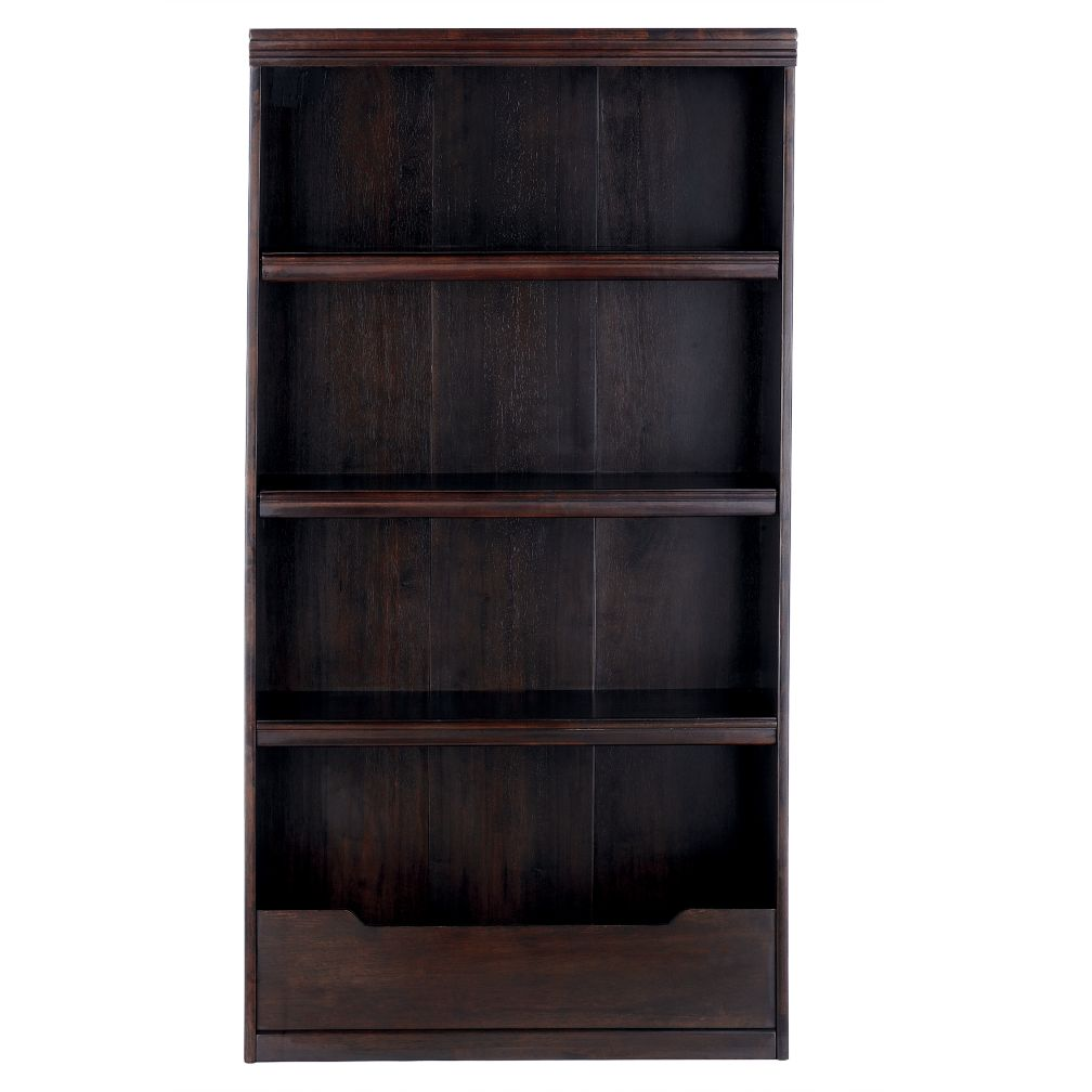 "60"" Flat Top Bookcase (Espresso)"