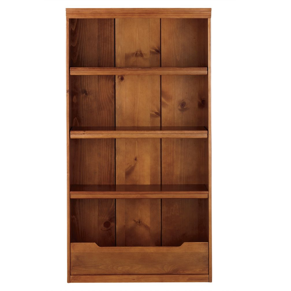 "60"" Flat Top Bookcase (Lt. Honey)"
