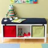 3-Cube Bench (White)