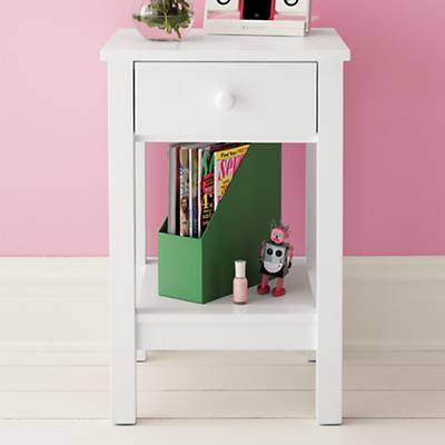 Kids' Nightstands: Kids White Simple Nightstand in Nightstands