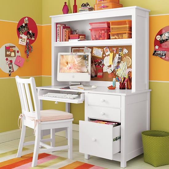kids 39 desks chairs kids white simple desk the land of nod