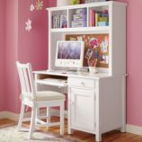 Walden Desk &amp; Hutch (White)