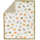 Roam Animal Stripe Crib Quilt