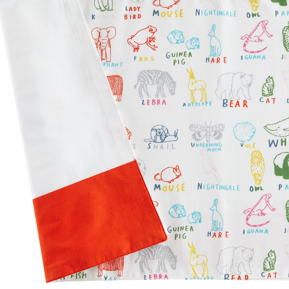 Field Guide Reversible Crib Skirt