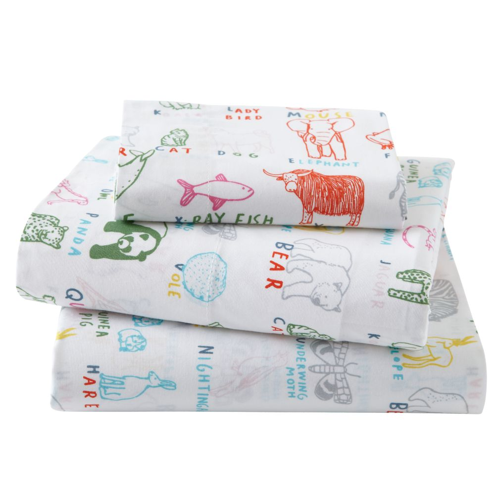 Field Guide Toddler Sheet Set (Animal Print)