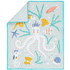Blue & Gold Sea Creatures Crib Quilt