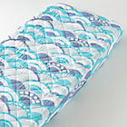 Blue Wave Print Changing Pad Cover